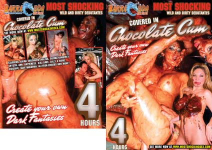 COVERED IN CHOCOLATE CUM DVD  -  4 HOURS!  -  $1.99