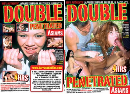 DOUBLE PENETRATED ASIANS DVD  -  4 HOURS!  -  $2.69