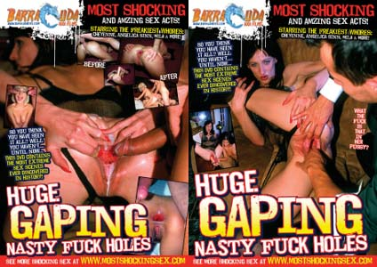 HUGE GAPING NASTY FUCK HOLES DVD  -  4 HOURS!  -  $2.99