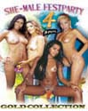 SHE-MALE FESTPARTY DVD - 4 HOURS!  -  $2.49