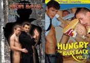 HUNGRY FOR BAREBACK 2 + IRON BALLS DVD  -  $5.99  -  DVD ONLY!