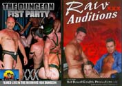 RAW AUDITITIONS XXX + THE DUNGEON FIST PARTY DVD  -  BAREBACK  -  $4.99  -  DVD ONLY!
